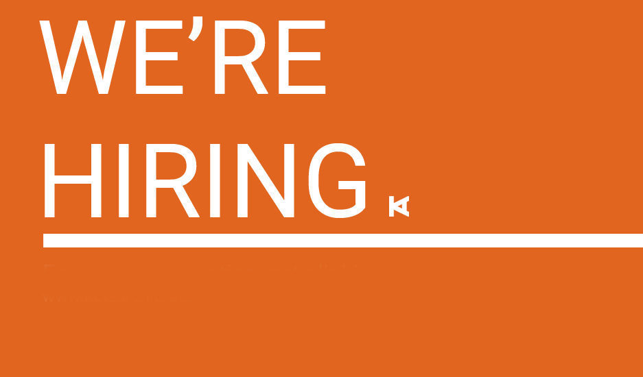 We're Hiring: Experienced Project Architect